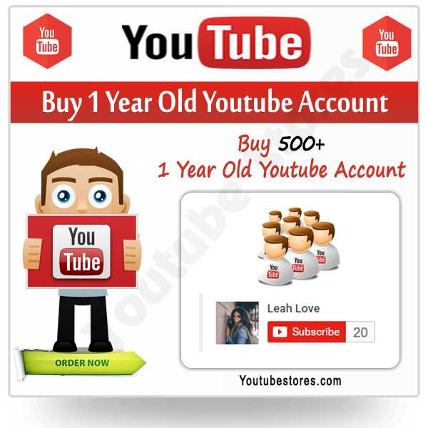 Buy 1 Year Old Youtube Account